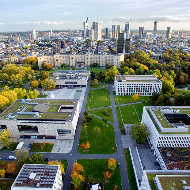 Bild: Luftaufnahme der Goethe-Universität Frankfurt