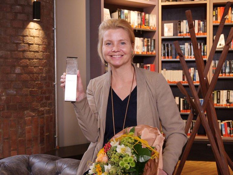 Annette Frier, Preisträgerin des Sonderpreises der Commerzbank-Stiftung für prominentes Engagement / Foto: Stiftung Lesen_Christian Hill-Erzählfabrik