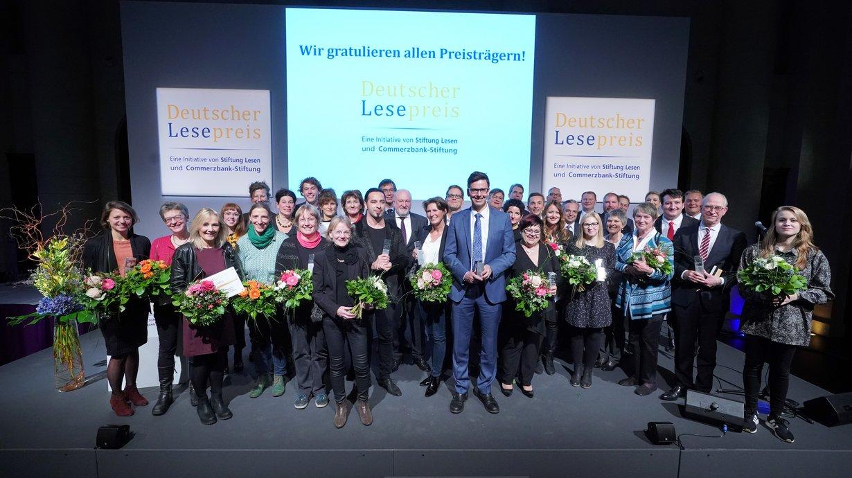 Alle Preisträger des Deutschen Lesepreises, Bild: Stiftung Lesen / Eventpress